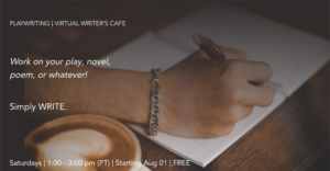 Drop In Writer's Cafe Banner